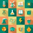 Set of energy icons — Stock Vector #43830967
