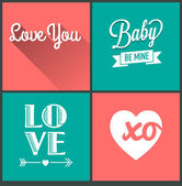 Set of love quotes — Stock Vector
