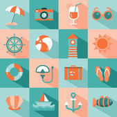 Set of sea and beach icons — Stock Vector