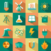 Set of energy icons — Stock Vector
