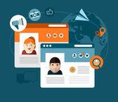 Social media concept illustration — Stock Vector