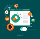Blogging concept illustration — Stock Vector