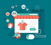 Online shop concept illustration — Stock Vector