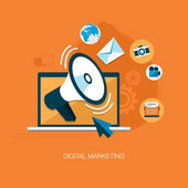 Ilustración concepto marketing digital — Vector de stock