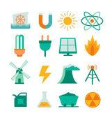 Satz von energie-symbole — Stockvektor