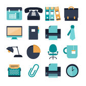 Set of modern office icons — Stock Vector