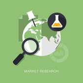 Modern market research concept — Stock Vector