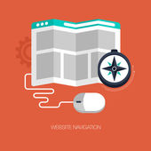 Modern website navigation concept — Stock Vector