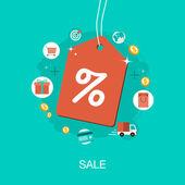 Vector modern sale concept — Stock Vector