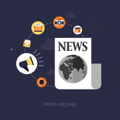 Modern press release concept — Stock Vector