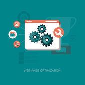 Modern web page optimization — Stock Vector