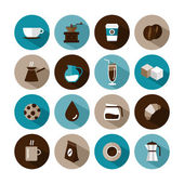 Set of vector coffee icons — Stock Vector