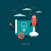Start up business concept — Stock Vector