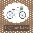 I love bike — Stock Vector