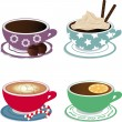 hot drinks — Stock Vector