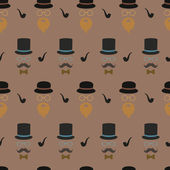 Pattern gentlemen — Stock Vector