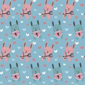 Pattern bunnies — Stok Vektör