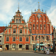 House of Blackheads in Riga, Latvia — Foto Stock