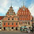 House of Blackheads in Riga, Latvia — Stok fotoğraf