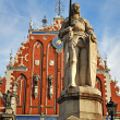 Statue of Roland in Riga — Stock Photo