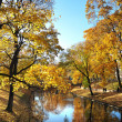 Autumn in the park in Riga — Stock Photo