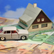 The dream of a house and a car — Stock Photo