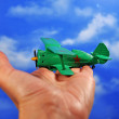 Model airplane — Stock Photo