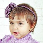 Little Caucasian girl talking — Stock Photo