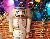 Christmas toy nutcracker — Stockfoto