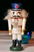 Christmas toy nutcracker — Photo