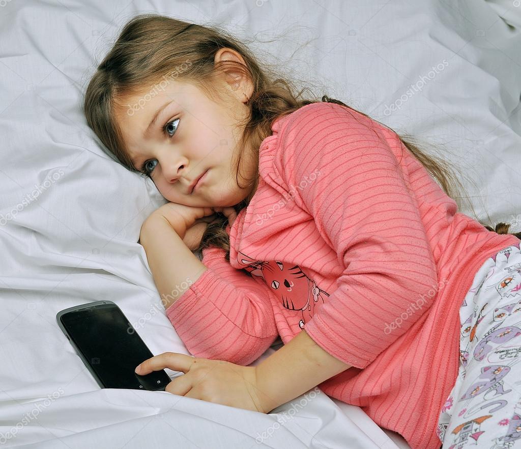 Little Girls In Bed Sleeping