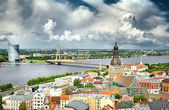 Panorama of Riga, Latvia in summer — Stock Photo