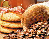 Coffee, biscuits — Foto de Stock