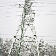 Stock Photo: Electric pole in winter