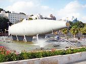 カルタヘナ、スペインの原子力潜水艦を彫刻します。 — ストック写真