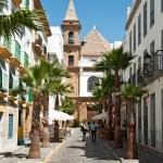 Cadiz, Spain, church, palm — Stock Photo