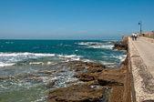 Road to the fortress of San Sebastian, Cadiz — Foto de Stock