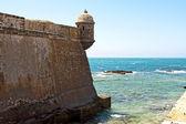 Road to the fortress of San Sebastian, Cadiz — Stock Photo