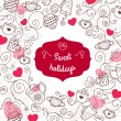 Vector de stock : Valentine card sweet holidays