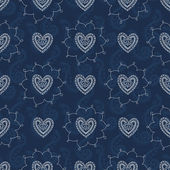 Seamless mehendi love pattern — Stock Vector