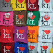 I Love KL t-shirts — Stock Photo