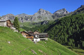 Cuneaz (Aosta Valley - North Italy) village and Mount Perrin — Stock Photo
