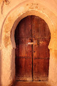 Morocco Kasbah of Tamnougalt, door — Stock Photo