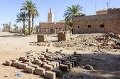 Morocco, Draa Valley, Zagora, bricks — Stock Photo