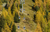 Ropeway in Ayas Valley (North Italy) — Foto Stock