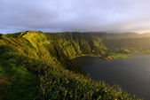 Lagoa Azul, lake in a crater, Azores archipelago (Portugal) — Stockfoto