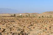 Old cemetery in Mirbat (Oman) — Stock Photo