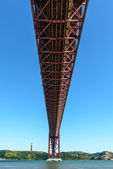 Bridge on Tagus river, Lisbon (Portugal) — Stock Photo