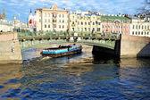 The engineering bridge through the Fontanka River — Stock Photo