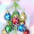 Stock Photo: New Year fur tree decorated with balls